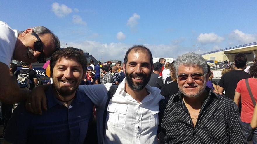 Andrés Rodríguez, a la derecha, junto al alcalde de Puerto Real, Antonio Romero.