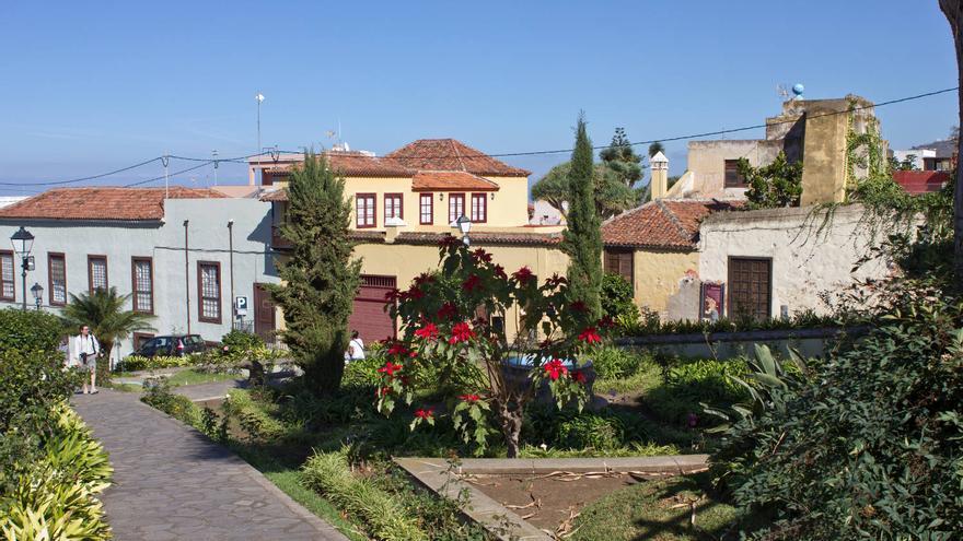 Casas y antiguo molino de agua de la Villa de Arriba, en La Orotava.
