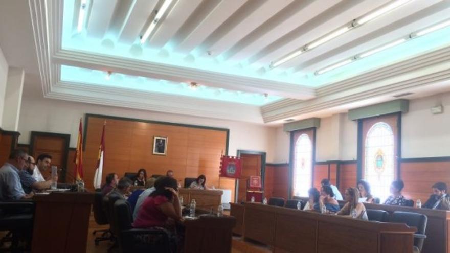Imagen del pleno celebrado este martes, 21 de agosto en Villarrobledo.