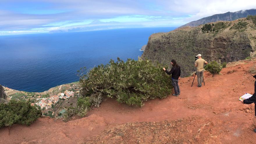 Grabación de Senderos del mundo y Turismo Rural en La Gomera