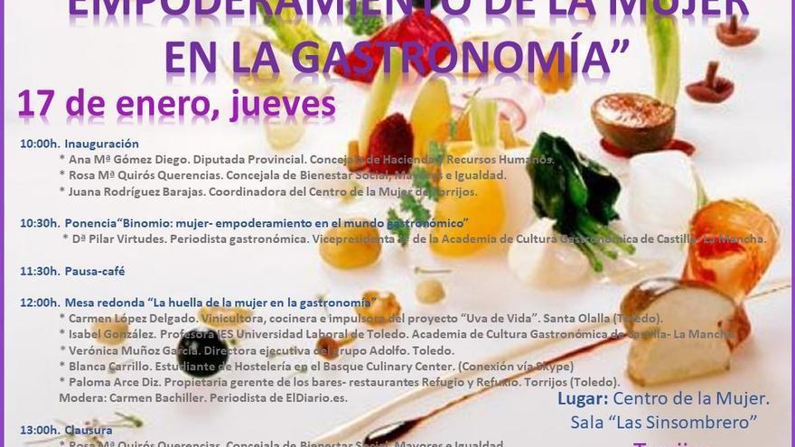 Programa de la Jornada 'Empoderamiento de la mujer en la Gastronomía'