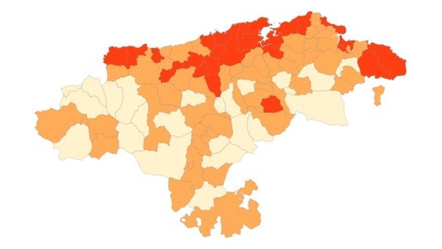 Semáforo Covid que evalúa el nivel de alerta sanitaria en cada municipio.