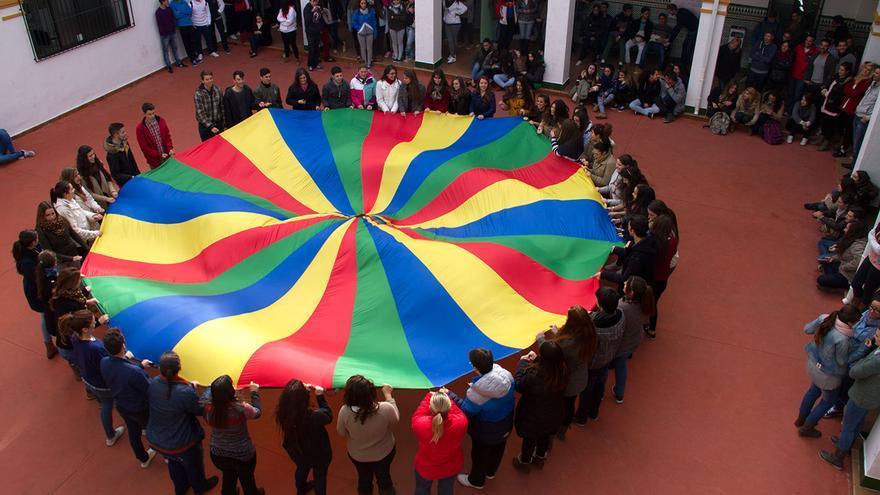 Alumnos del colegio Santa María de Los Ángeles, de Málaga.