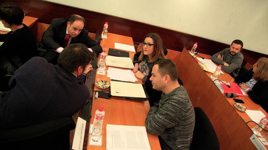 Diputados de PSOE y Podemos en las Cortes de Castilla-La Mancha
