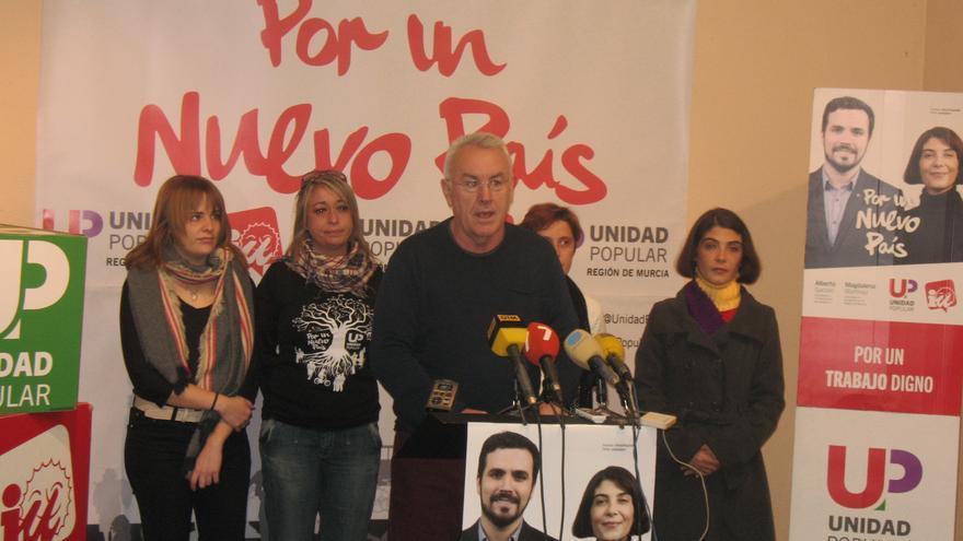 Cayo Lara ha acudido a Murcia para el acto central de UP-IU Verdes