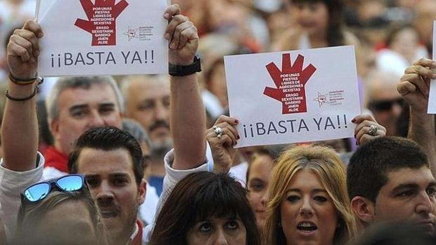 Protesta contra las agresiones sexuales en sanfermines.