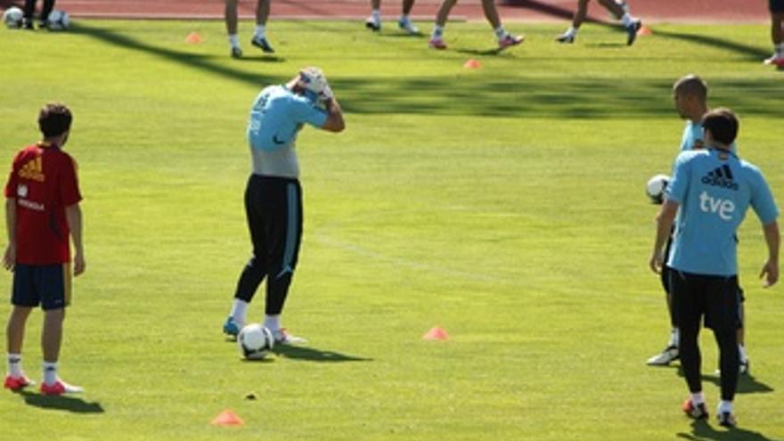 Pepe Reina Victor Valdes Y Iker Casillas Entrenamiento Selección Española