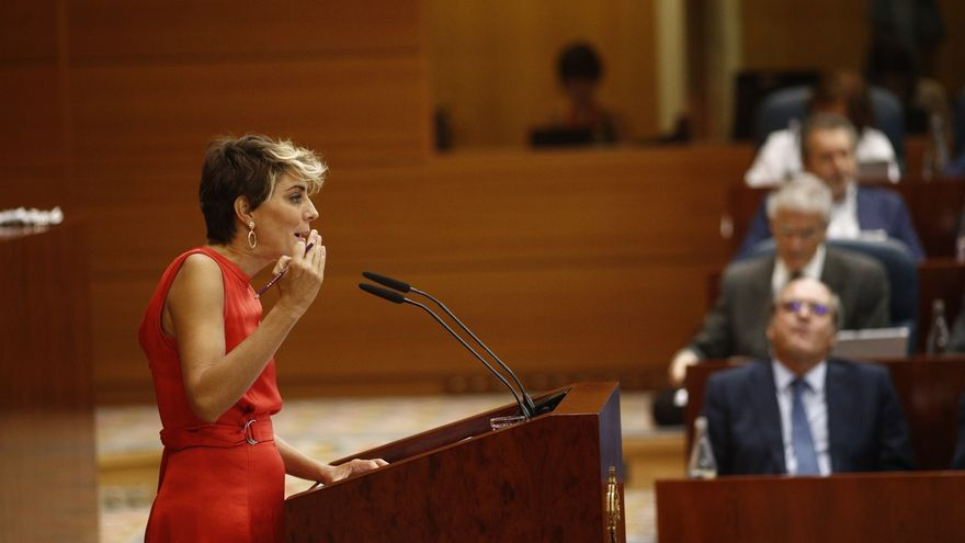 Dimite Lorena Ruiz-Huerta como portavoz de Podemos en la Asamblea de Madrid