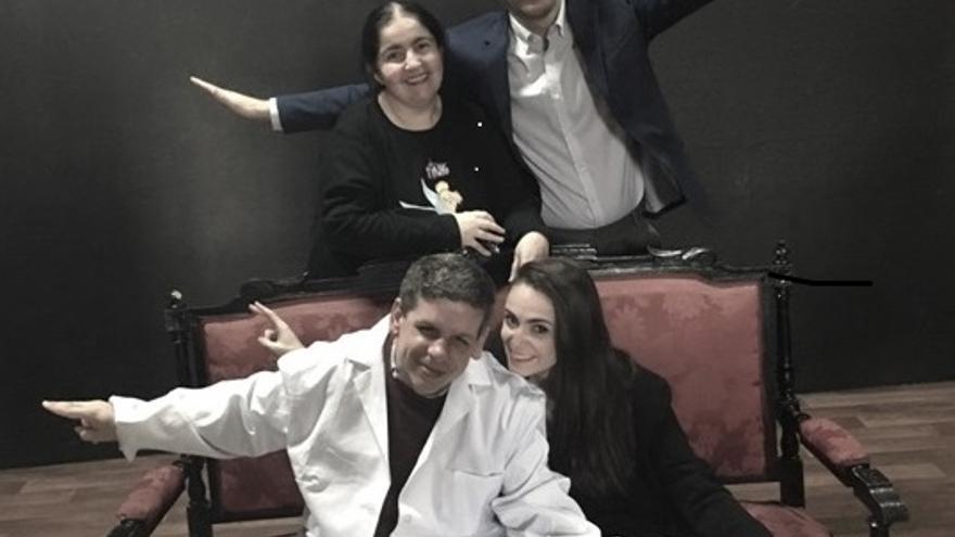 Adela Estévez, Xabier Olza, Daniel Olías y Miriam Fernández
