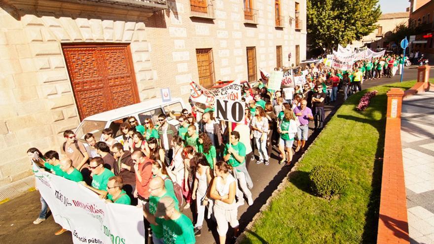 Huelga por la educación en Octubre 2012 en Talavera de la Reina