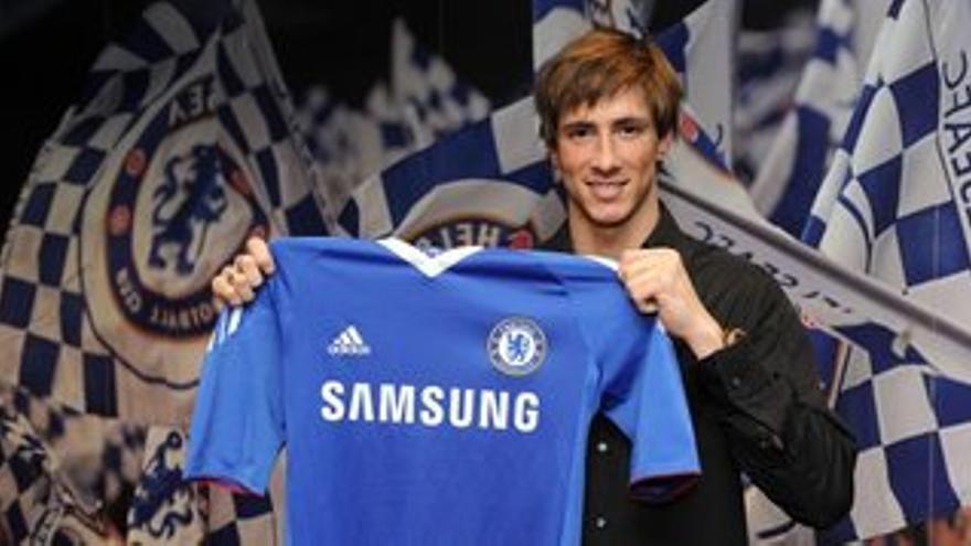 Fernando Torres con la camiseta del Chelsea
