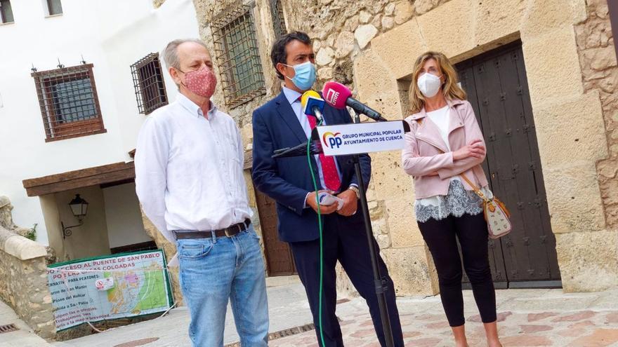 """El PP acusa al alcalde de Cuenca de """"ignorar y ocultar"""" un informe que alertaba del riesgo de derrumbe en la calle Canónigos"""