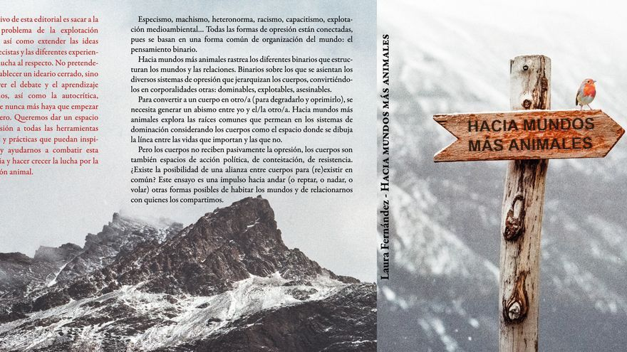 Cubierta de 'Hacia mundos más animales', de Laura Fernández, editado por ochodoscuatro ediciones