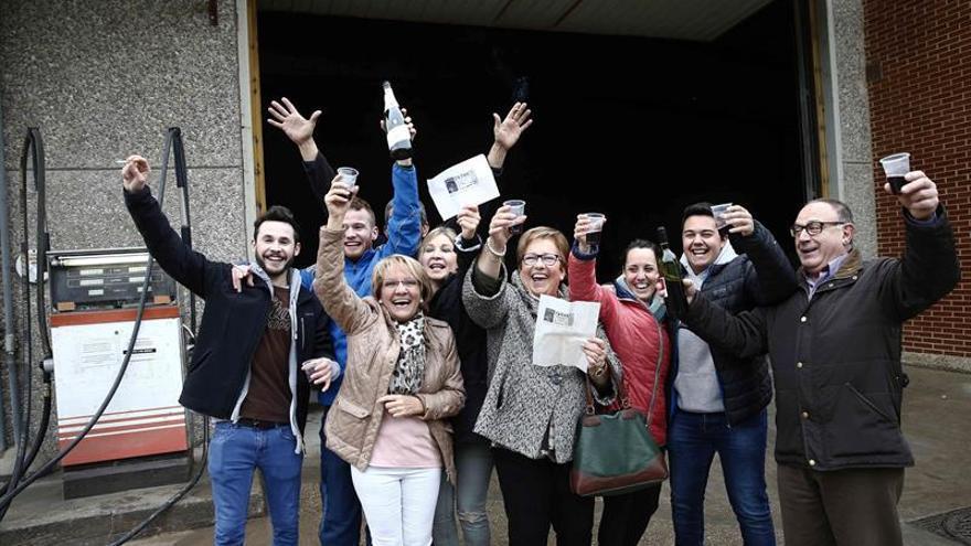 Alegría en San Adrián y Azagra (Navarra) por un tercer premio muy repartido