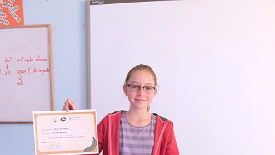 En la imagen, Mona Westphal, tercer premio, alumna del CEIP Miranda de Breña Alta.