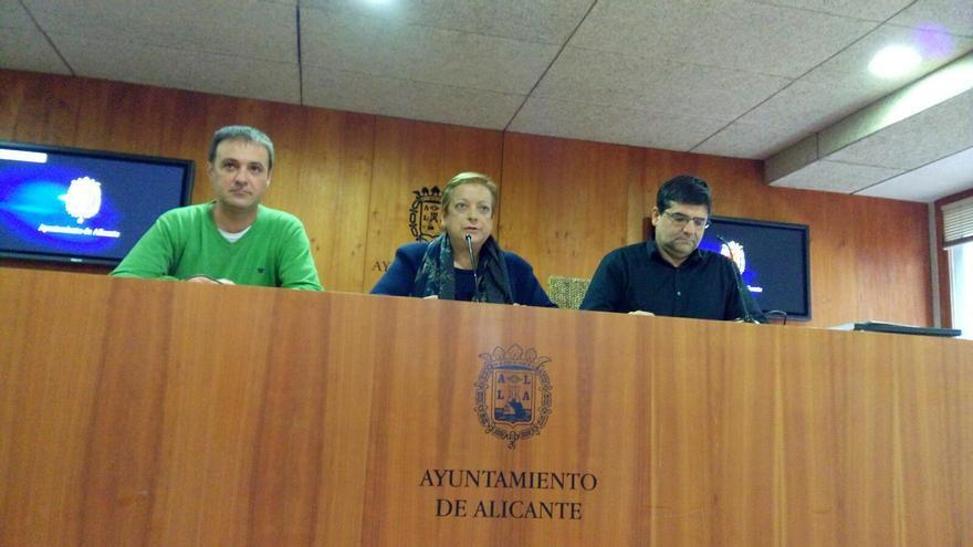 Natxo Bellido, Sofía Morales y Miguel Ángel Pavón