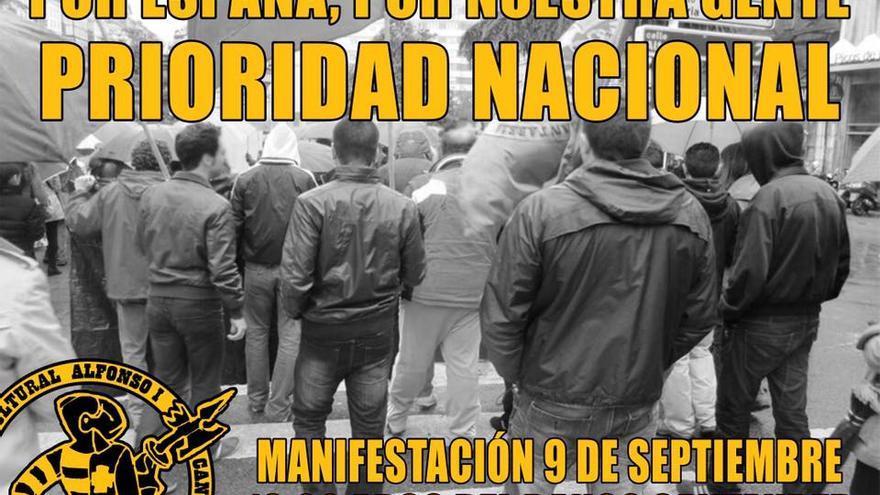 Imagen de la manifestación convocada por la Asociación Alfonso I.