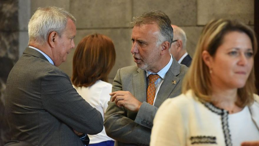 Imagen tras el Consejo de Gobierno de este jueves.