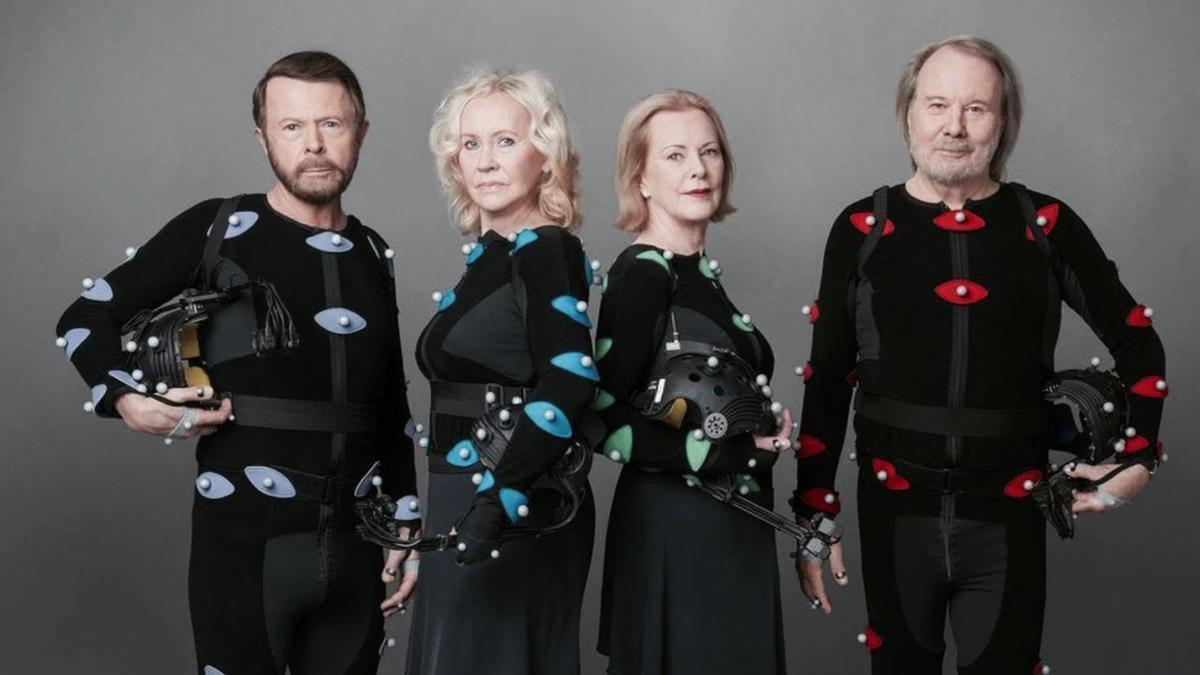 Los miembros de ABBA en la actualidad, en una foto promocional de sus nuevas canciones.