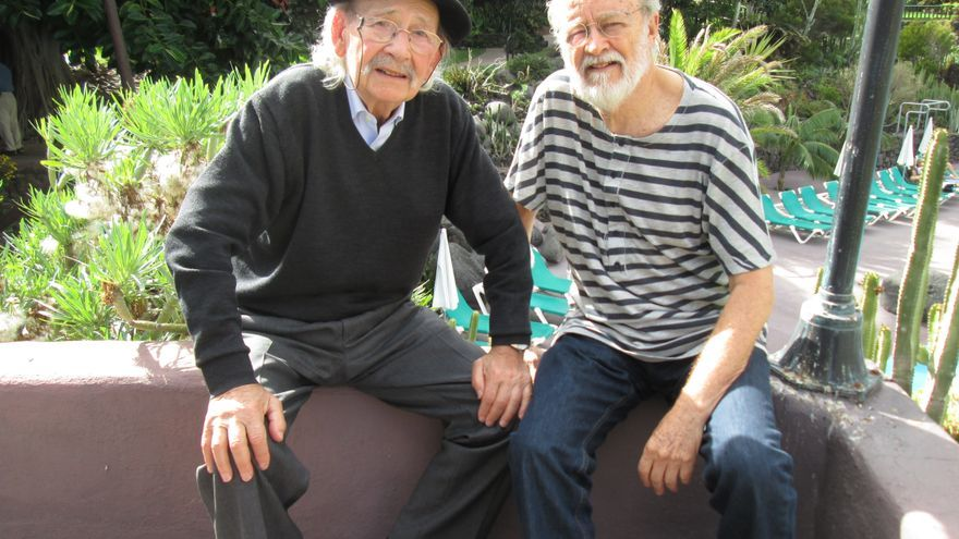 Ibarrola y Fierro comparten amistad y afinidades artísticas. Foto: LUZ RODRÍGUEZ