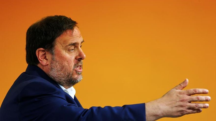 Junqueras niega legalidad España y dice ley referéndum se aprobará septiembre
