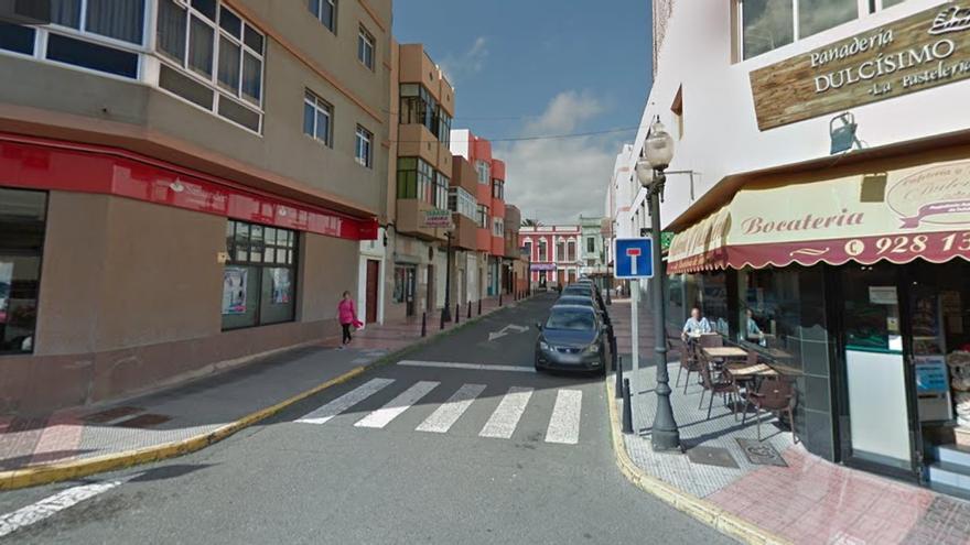 Calle Padre Andrés Manjón, lugar donde ocurrieron los hechos.