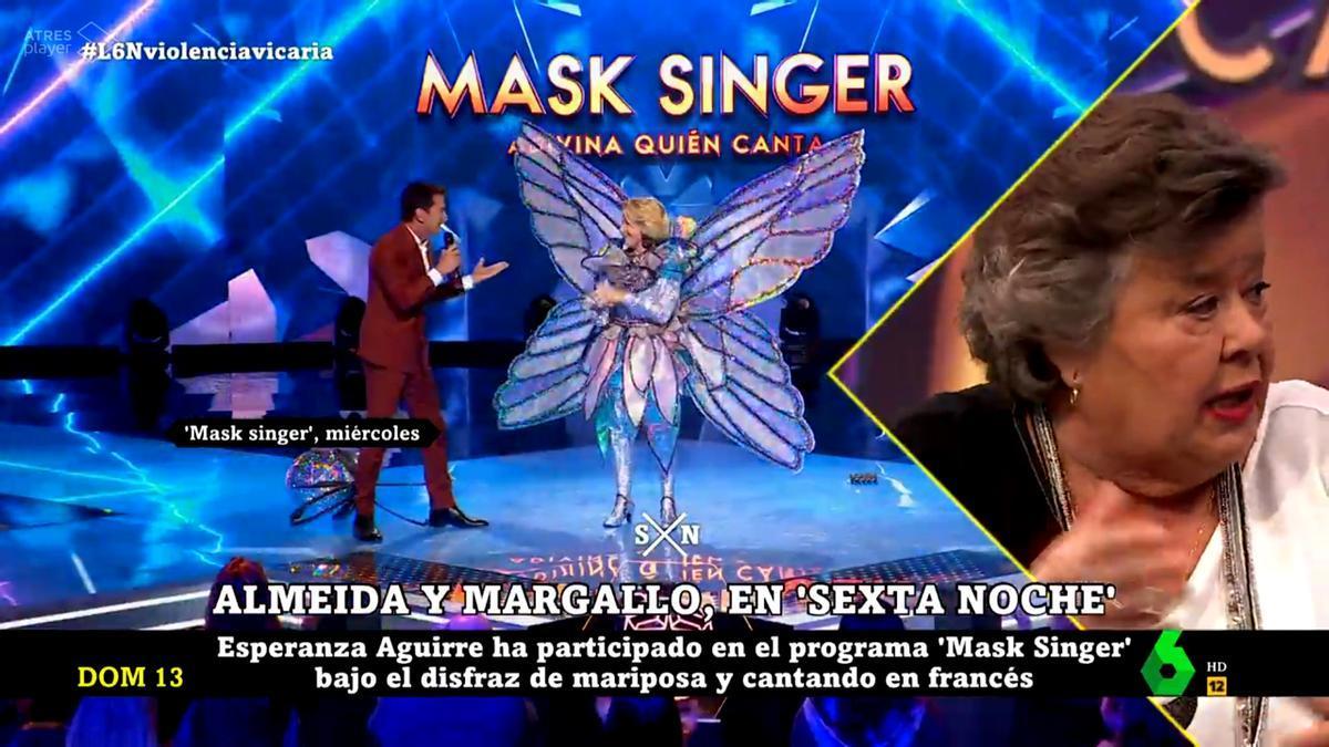 Cristina Almeida valoró en 'laSexta Noche' la participación de Aguirre en 'Mask Singer'