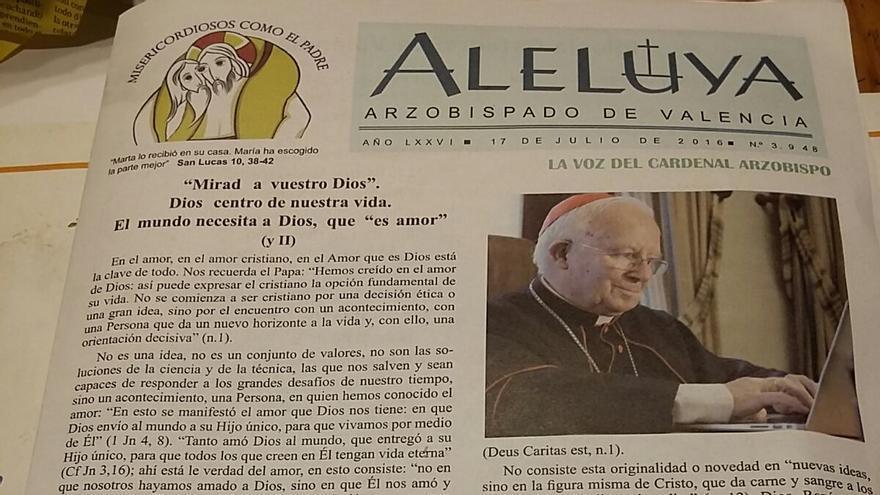 Cabecera de Aleluya, la publicación del arzobispado de Valencia.