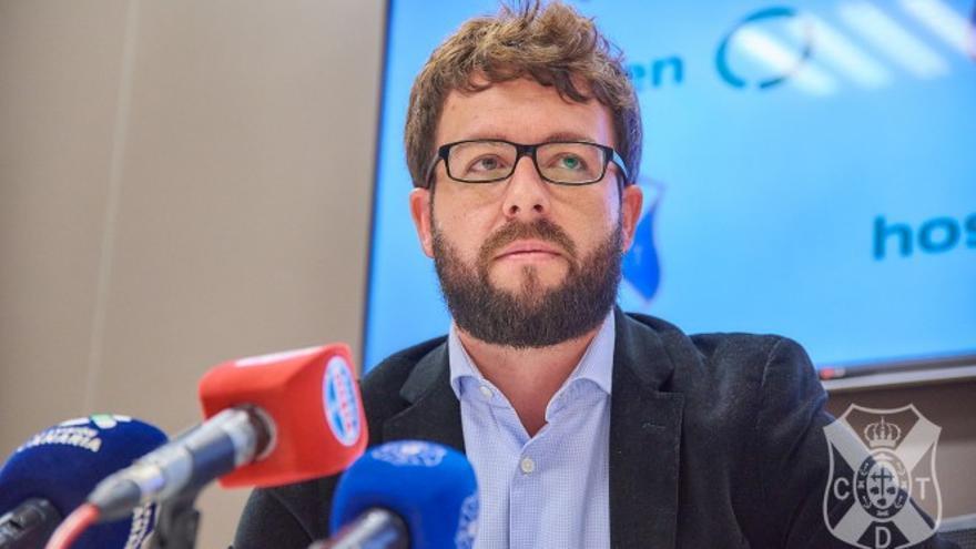 Víctor Moreno, durante su comparecencia ante los medios de comunicación