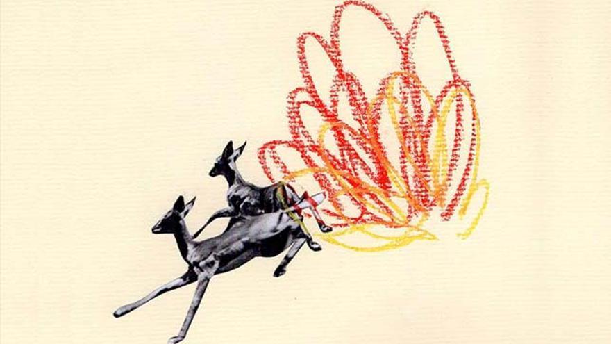 'Incendio'. Ilustración-collage de Ana Lorente