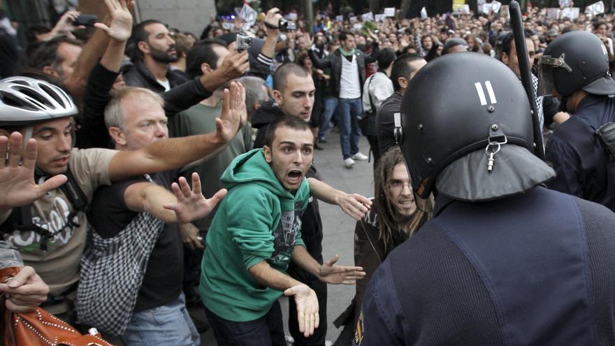 Manifestantes en la protesta Rodea el Congreso de 2012 / EFE