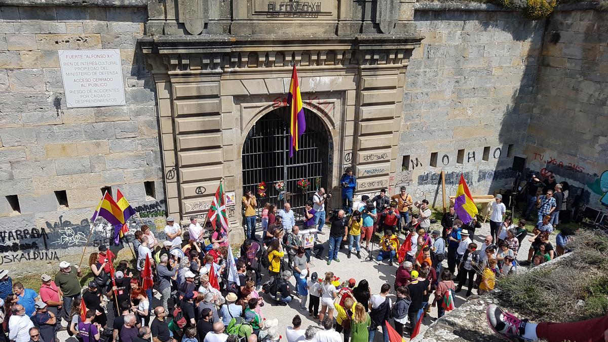 Imagen del 80 aniversario de la fuga del monte Ezkaba, en Navarra.