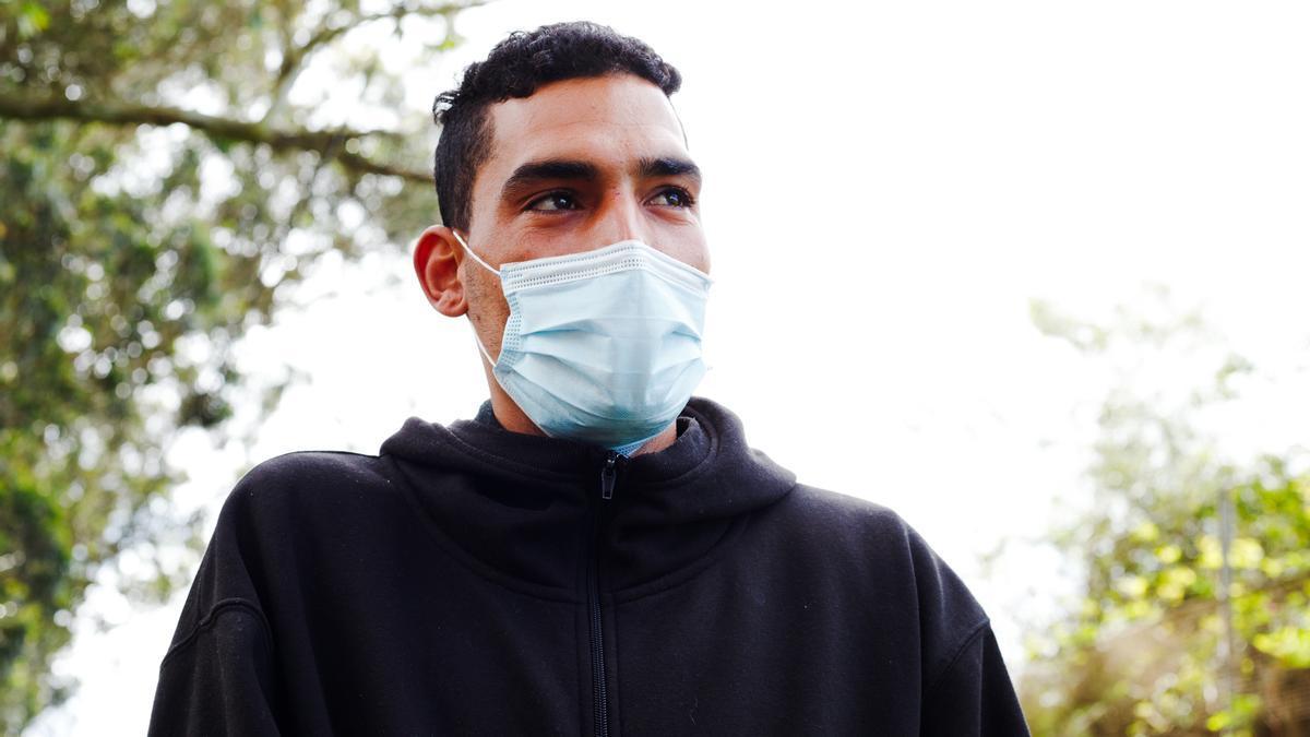Tafik* (nombre ficticio), uno de los migrantes que han llegado a Canarias después de haber intentado alcanzar Europa por la ruta libia.