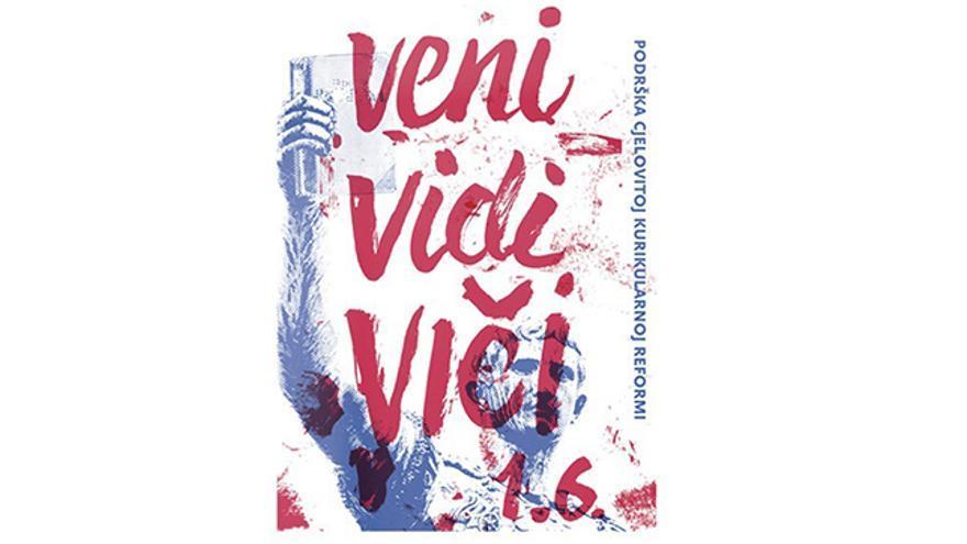 """""""Vine, vi y grité"""", dice este slogan del movimiento por la reforma de la educación en Croacia"""