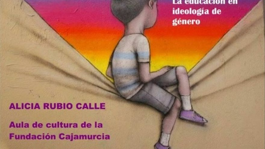 Alicia Rubio, miembro de Vox, imparte en Murcia una charla contra la educación en la diversidad sexual de los niños