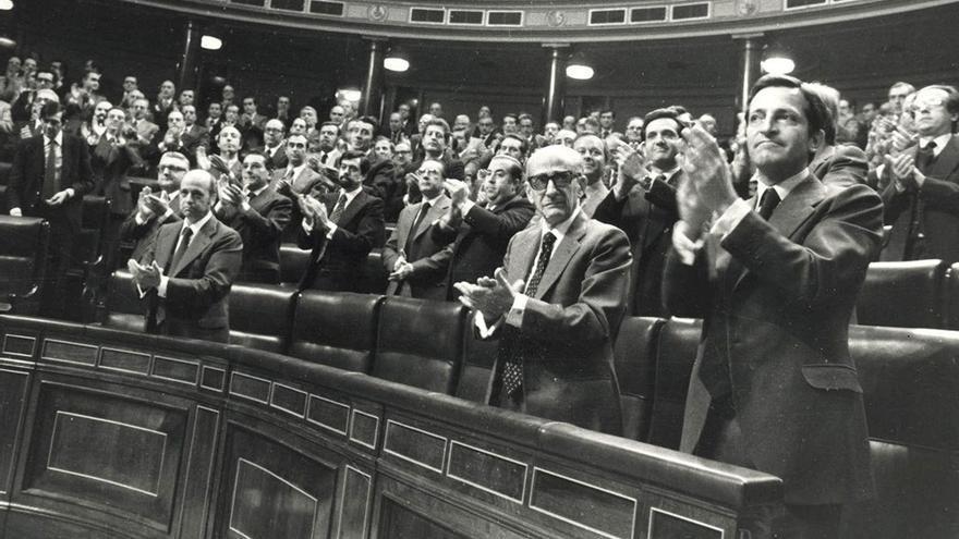 Congreso de los Diputados durante la aprobación de la Constitución de 1978. (EFE).