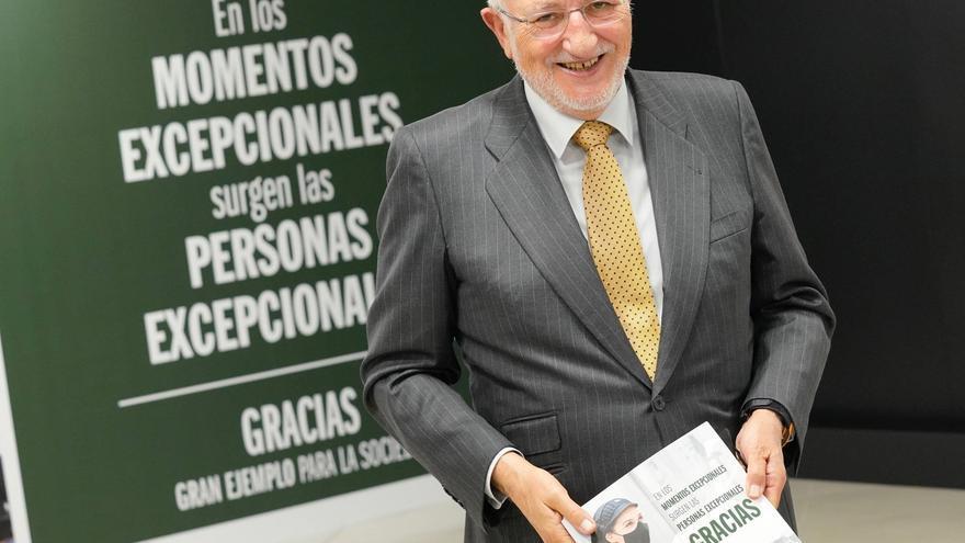 El presidente de Mercadona, Juan Roig, en la presentación de los resultados de 2020.
