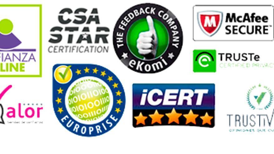 Recopilación de sellos de confianza disponibles en España