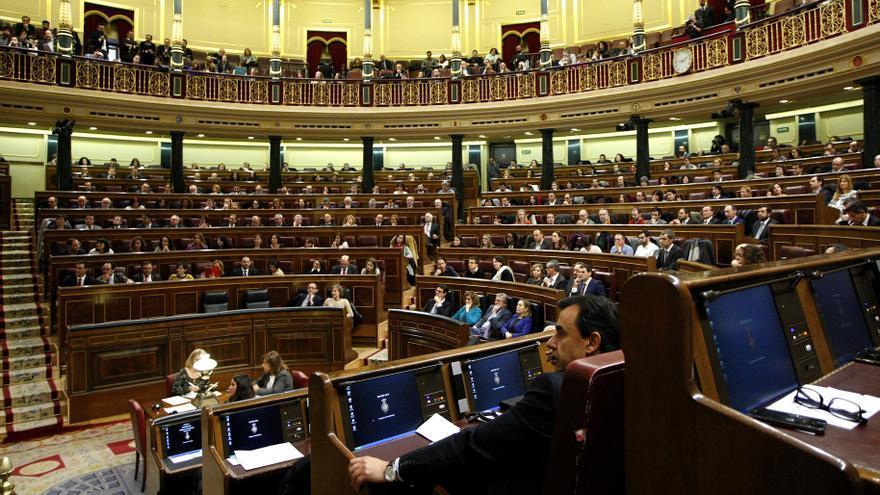 Plano general del Congreso de los Diputados en la primera sesión. / Marta Jara