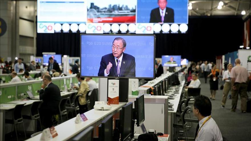 Ban insta al G20 a tomar una acción decidida contra el cambio climático