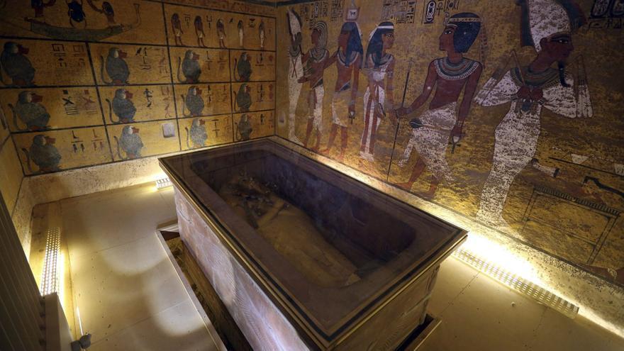 Sarcófago de la tumba de Tutankamon, en el Valle de los Reyes. EFE
