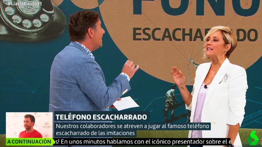 Cristina Pardo aprendió a imitar famosos con Carlos Latre en su vuelta a laSexta
