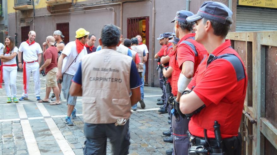 La Policía Foral detiene a seis personas por hurto en el segundo día de los Sanfermines