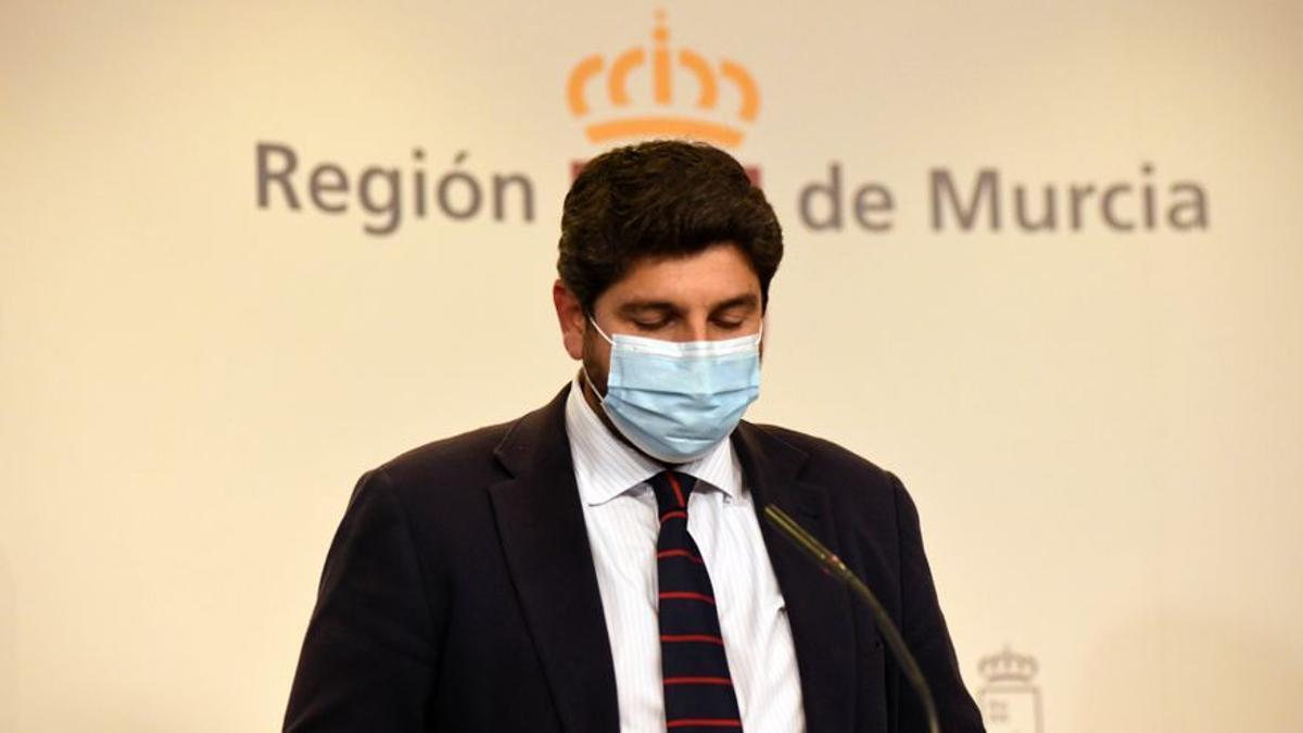 El presidente del Ejecutivo murciano, Fernando López Miras