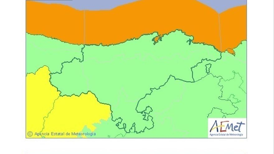 Cantabria estará este jueves en aviso naranja por costeros