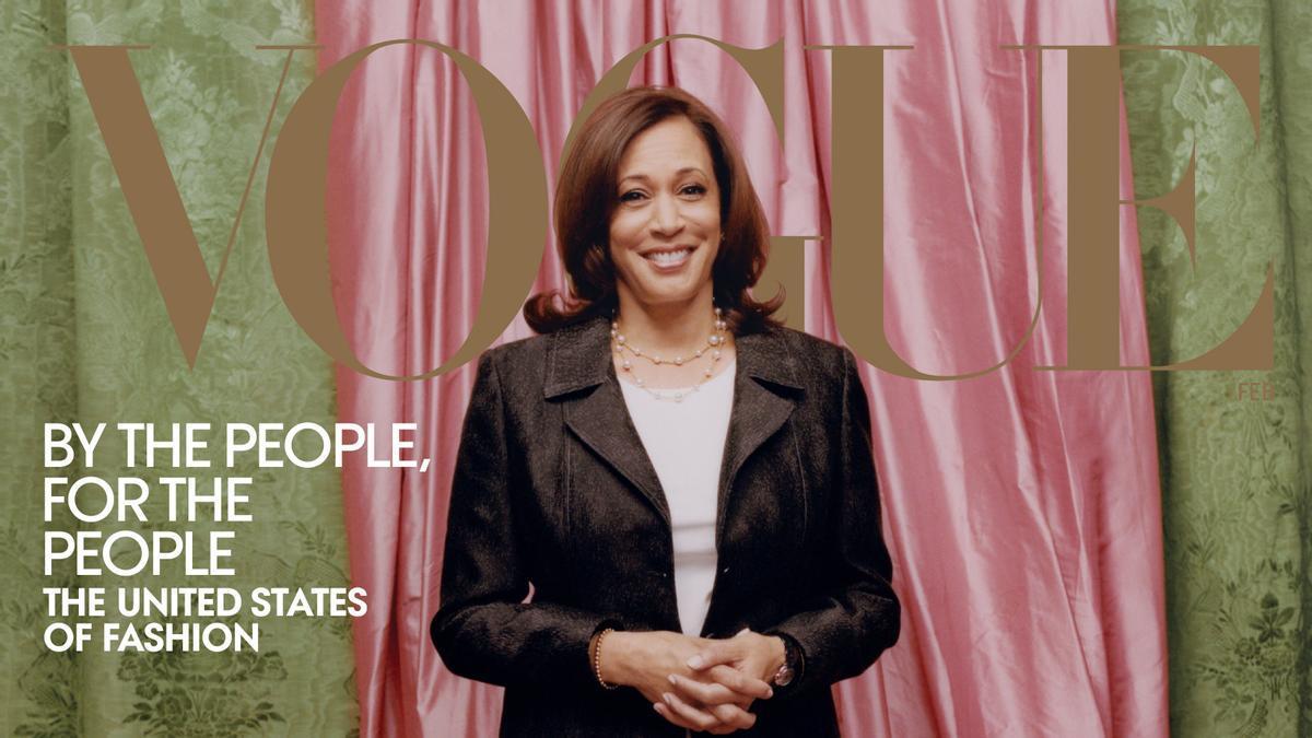 Portada de Vogue con la vicepresidenta electa de Estados Unidos Kamala Harris.