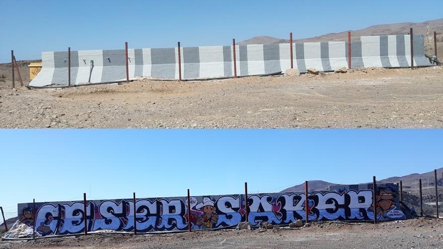 Grafitis  en Gran Canaria.