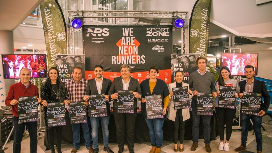 Presentación de la Neon Run Spain Sport Zone de Los Llanos.