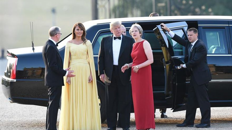 Trump llega a un convulso Reino Unido rodeado de un clima de hostilidad