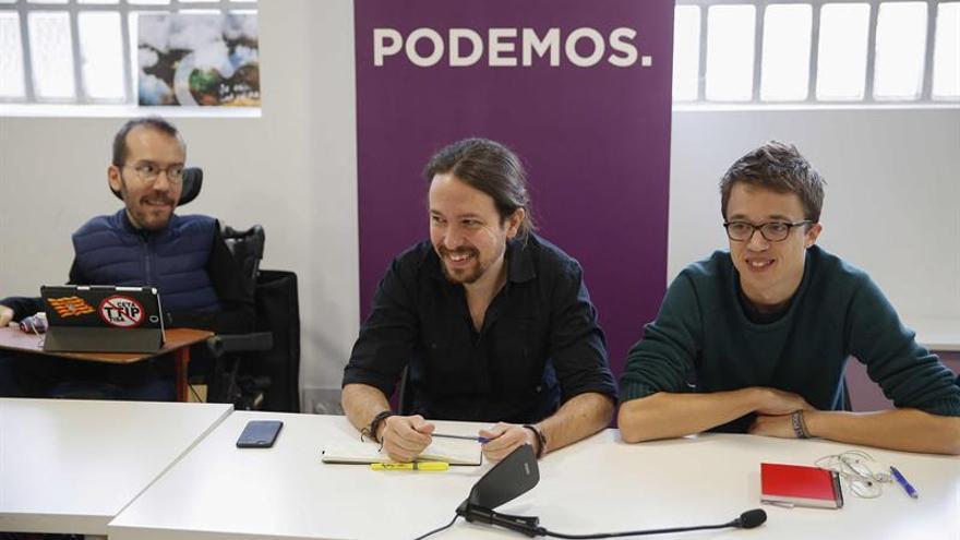 Pablo Iglesias, Íñigo Errejón y Pablo Echenique, en el último Consejo Ciudadano.